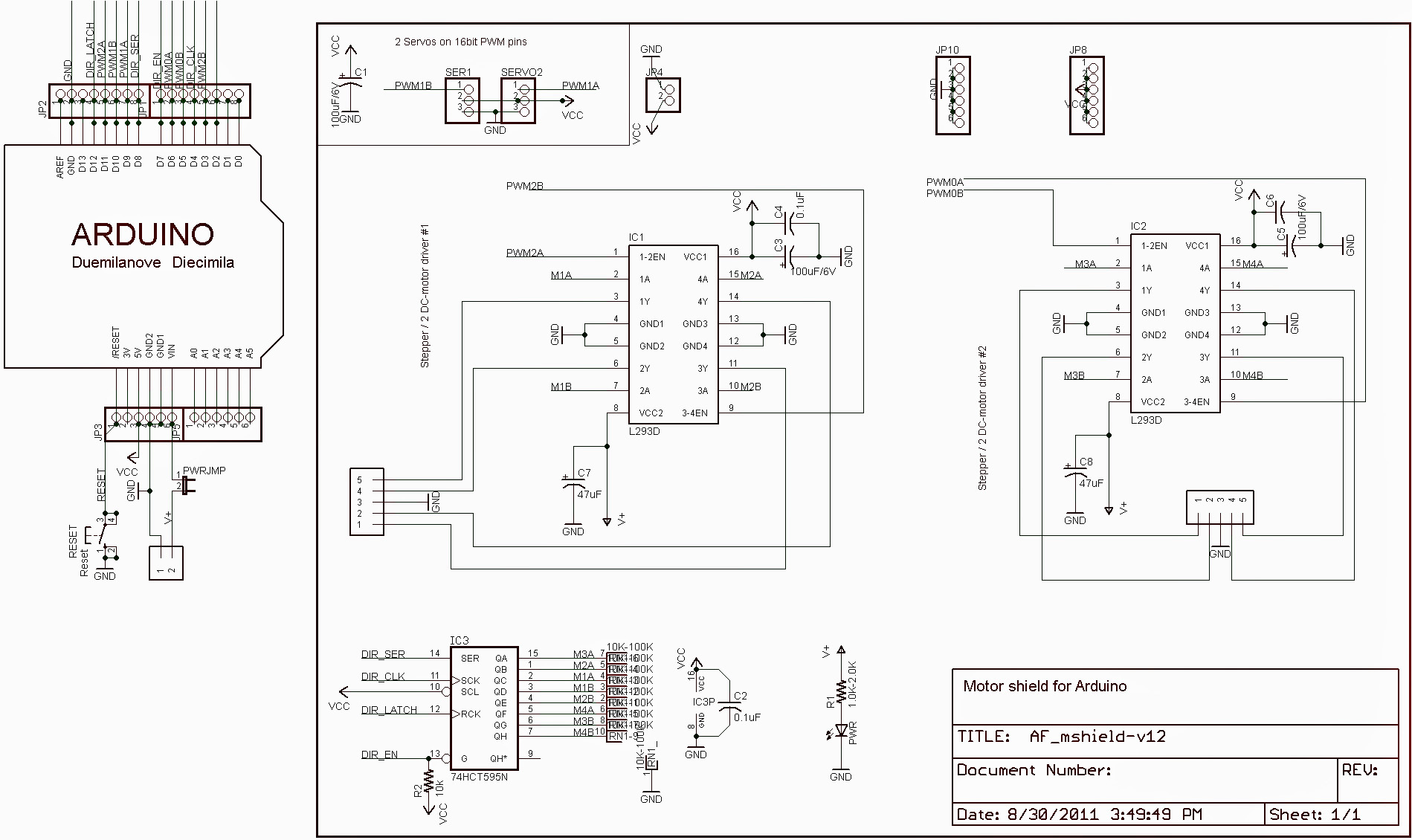 Terminus: Arduino Motor Shields